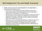 self employment tax and health insurance
