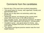 comments from the candidates2