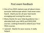 post exam feedback1