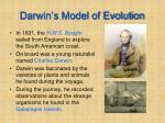 darwin s model of evolution