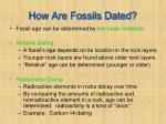 how are fossils dated