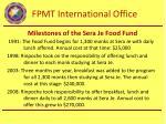 milestones of the sera je food fund