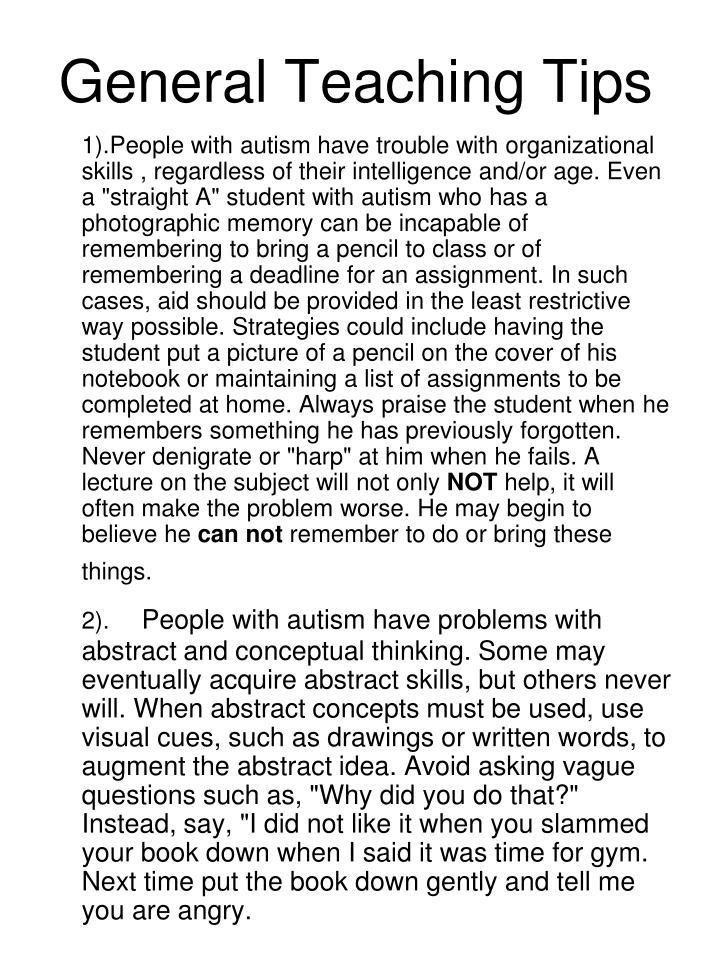General Teaching Tips