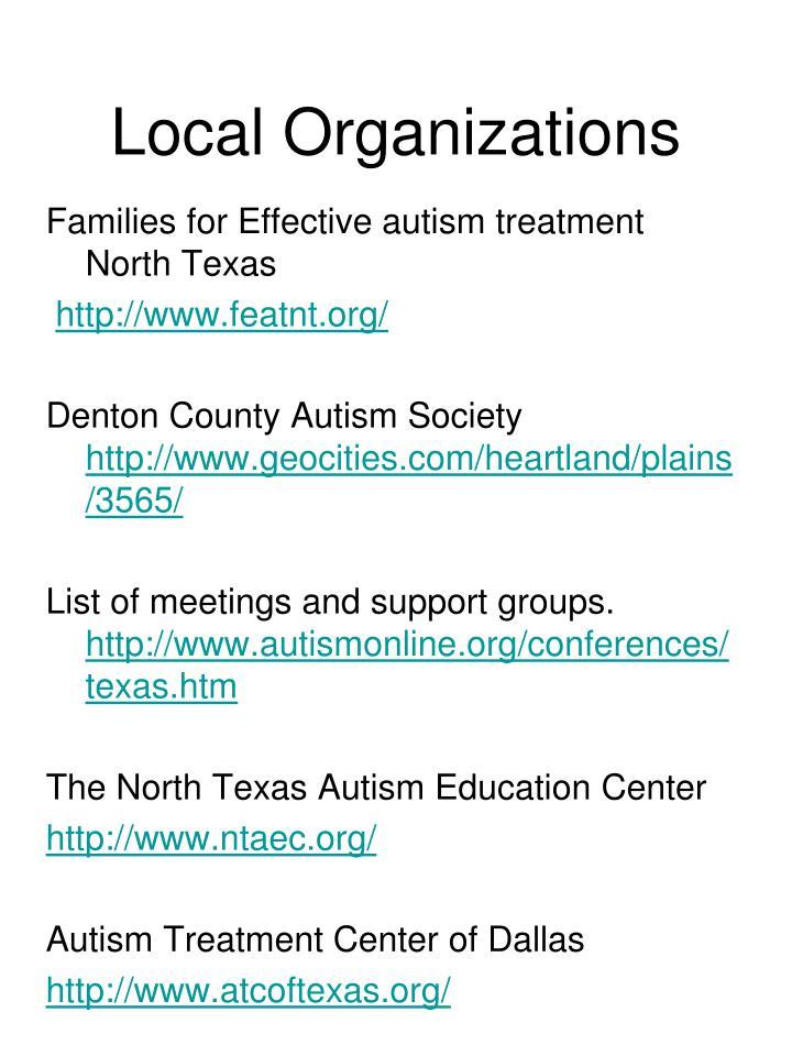 Local Organizations