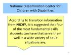 national dissemination center for children with disabilities
