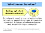 why focus on transition1