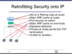 retrofitting security onto ip