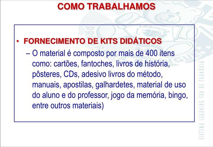 FORNECIMENTO DE KITS DIDÁTICOS