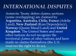 international disputes