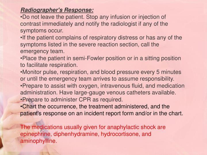 Radiographer's Response:
