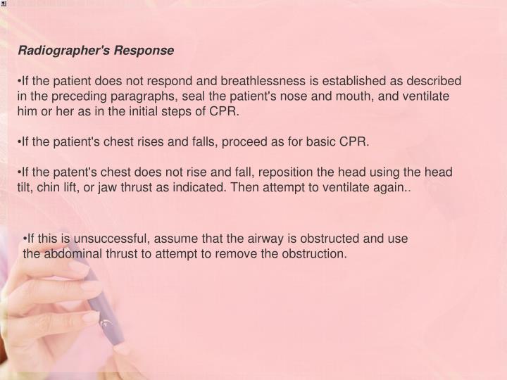 Radiographer's Response