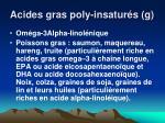 acides gras poly insatur s g1