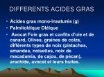 differents acides gras1