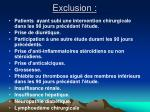 exclusion
