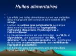 huiles alimentaires