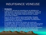 insufisance veineuse