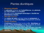 plantes diur tiques