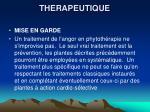 therapeutique