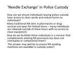 needle exchange in police custody1
