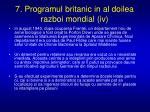 7 programul britanic in al doilea razboi mondial iv