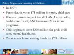 policy progress on investing in children