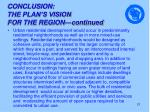 conclusion the plan s vision for the region continued