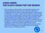 conclusion the plan s vision for the region