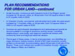plan recommendations for urban land continued2