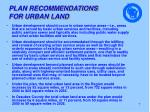 plan recommendations for urban land
