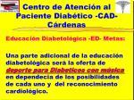 centro de atenci n al paciente diab tico cad c rdenas12