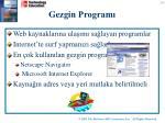 gezgin program