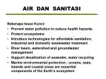 air dan sanitasi
