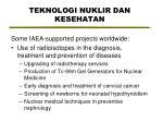 teknologi nuklir dan kesehatan