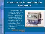 historia de la ventilaci n mec nica