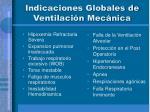 indicaciones globales de ventilaci n mec nica
