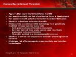 human recombinant thrombin