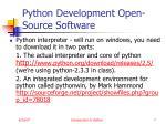 python development open source software