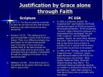 justification by grace alone through faith