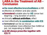 laba in the treatment of ab conclusion