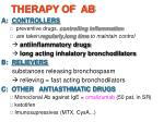 therapy of ab1