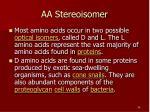 aa stereoisomer