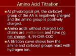 amino acid titration