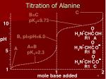 titration of alanine