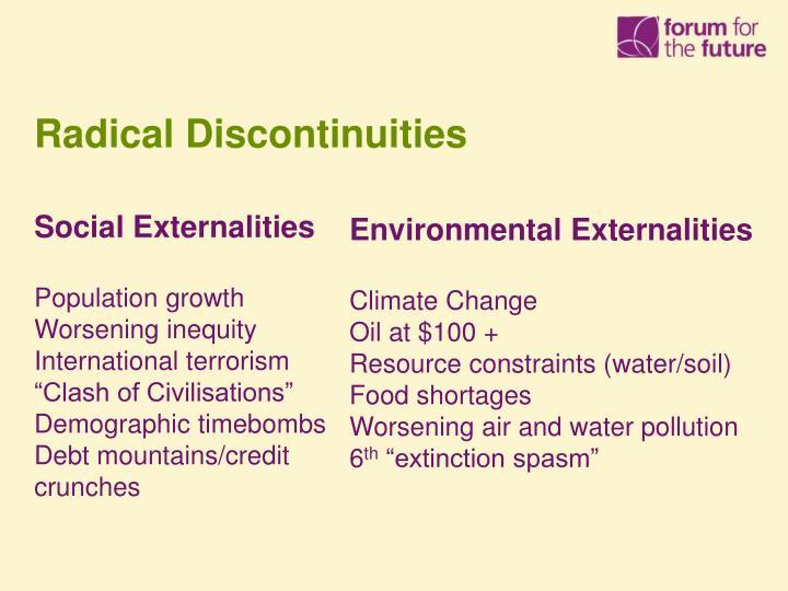 Radical Discontinuities