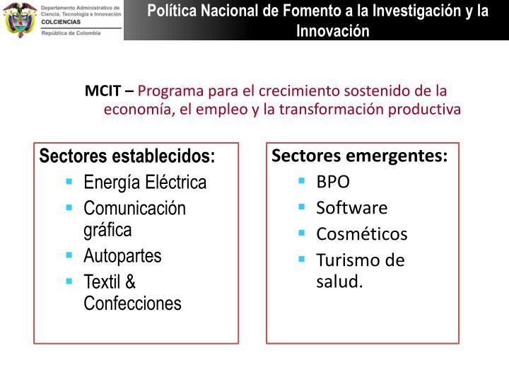 Política Nacional de Fomento a la Investigación y la Innovación