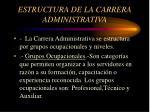 estructura de la carrera administrativa