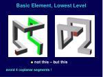 basic element lowest level