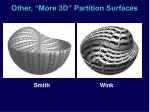 other more 3d partition surfaces