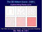 the 2d hilbert curve 1891