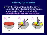 yin yang symmetries